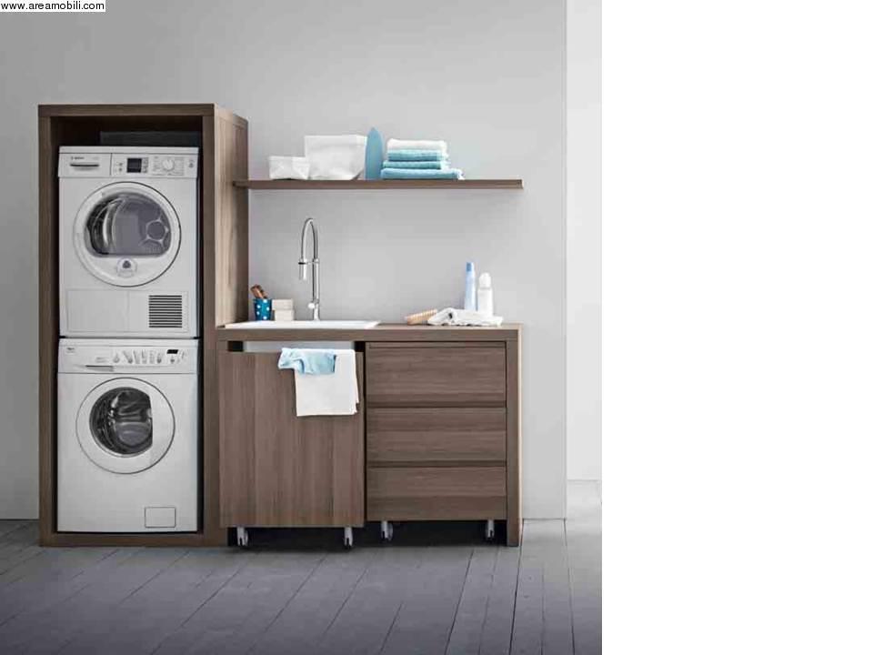 Lavandino per lavanderia con mobile porta lavasciuga - Mobile per lavatrice ikea ...
