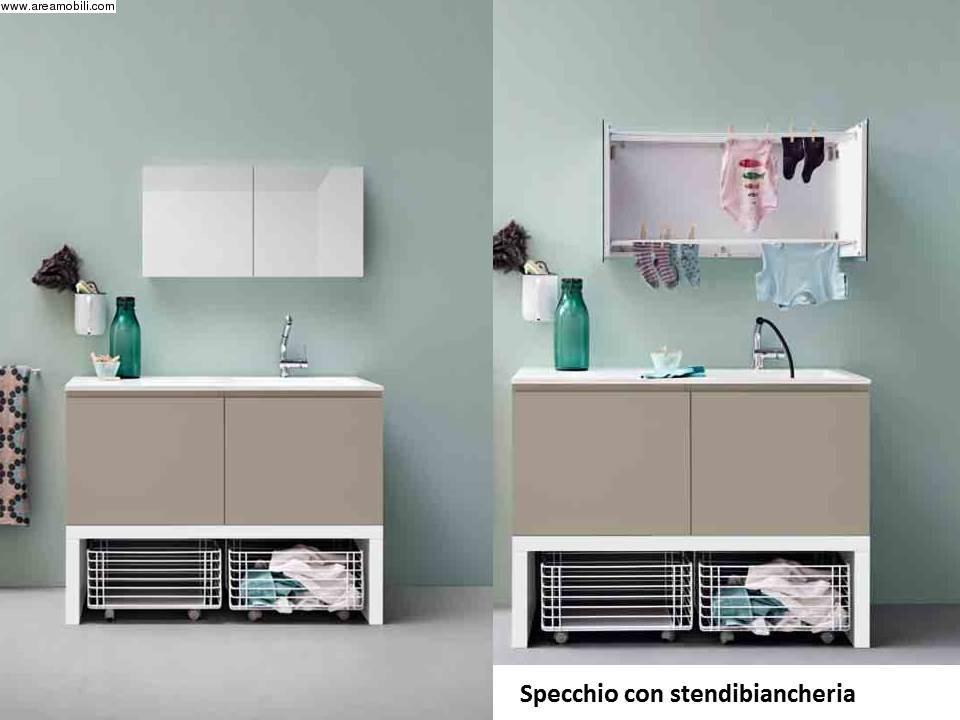 Armadio Lavanderia A Scomparsa : Mobile per lavanderia con stendibiancheria a scomparsa
