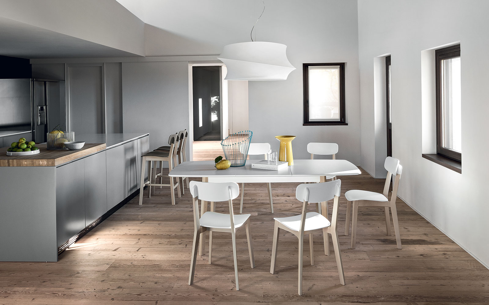 Tavolo Calligaris Cream Table piano bianco laccato