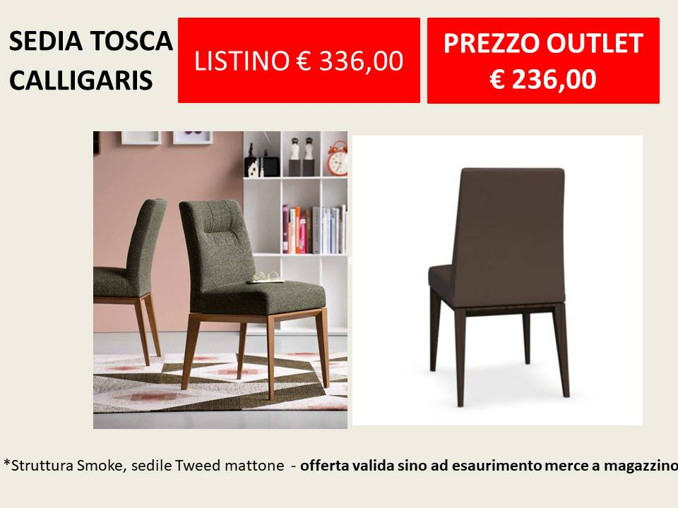 sedie modello Tosca Calligaris a prezzo Outlet