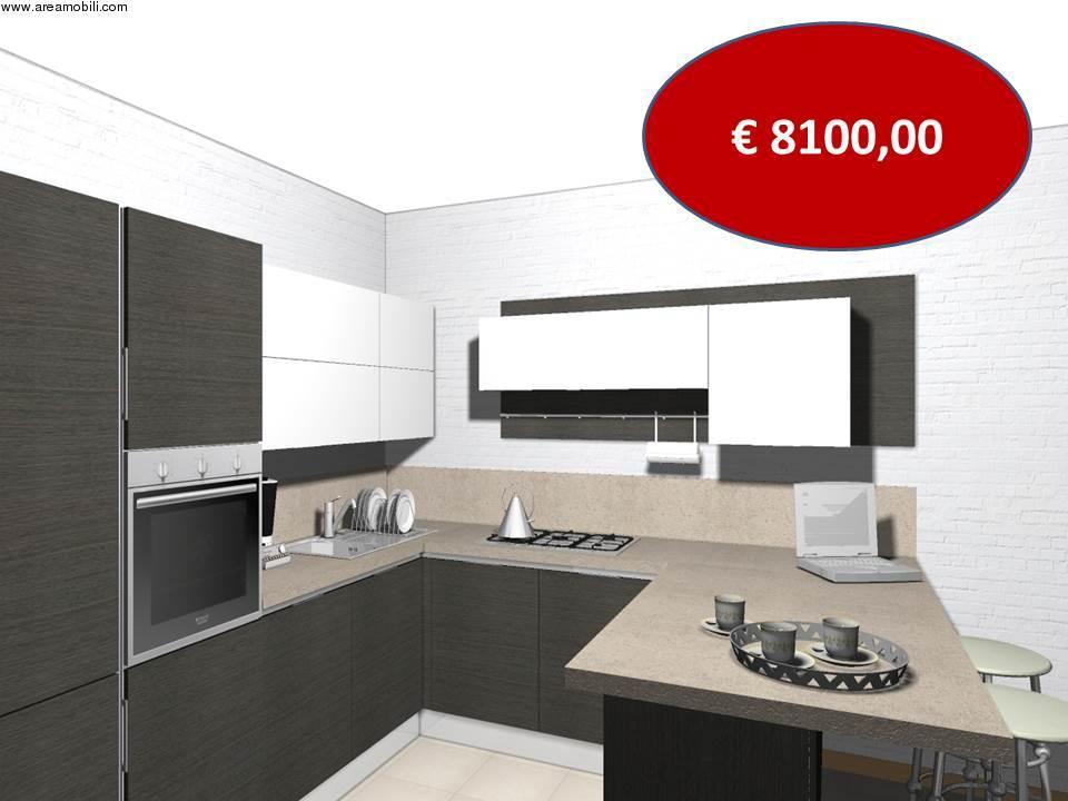Cucina angolare con penisola carrera go veneta cucine euro for Cucina moderna quanto costa