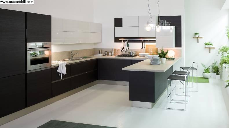 Cucina modello Carrera go Veneta cucine Finitura termoformato rovere grigio