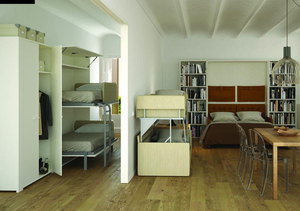 Idee arredo salvaspazio 6 posti letto in un monolocale - Idee salvaspazio casa ...