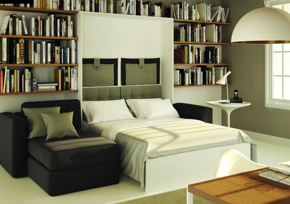 Mobile ponte con divano letto matrimoniale idee per il for Mobile con letto a scomparsa ikea
