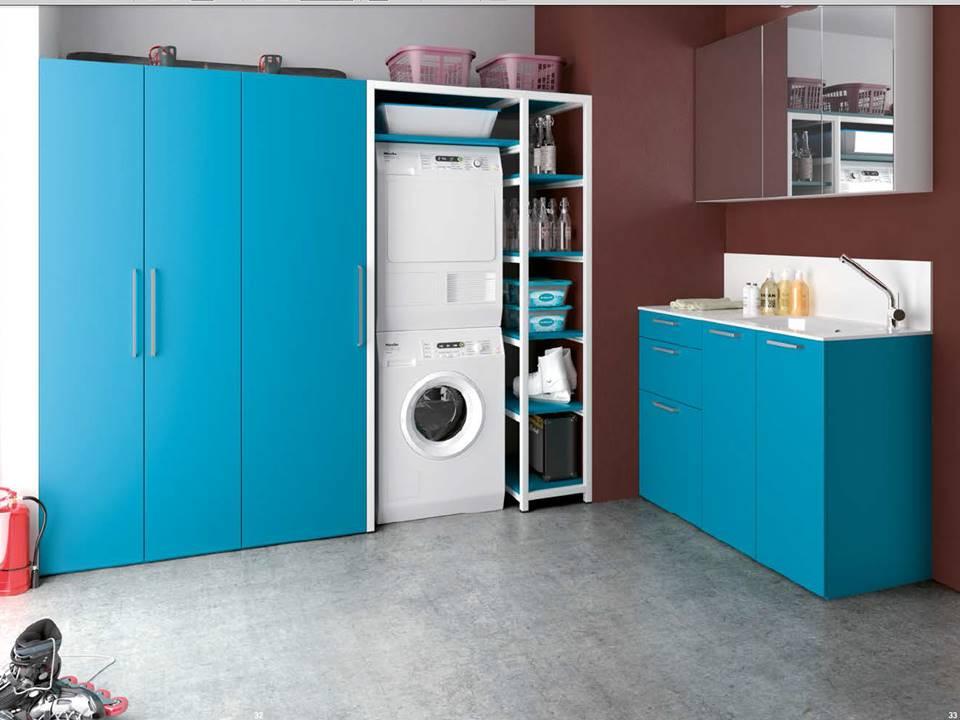 colonna metallica porta lavatrice e asciugatrice