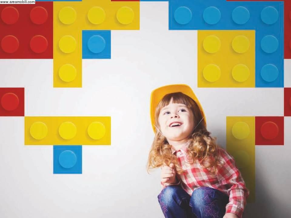 Carta da parati lego for Tappezzeria bambini