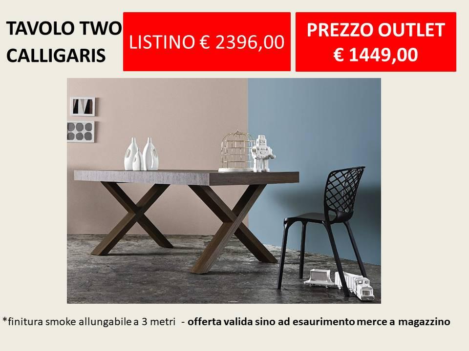 Tavolo two calligaris prezzo imbattibile offerta outlet - Tavolo tower calligaris prezzo ...