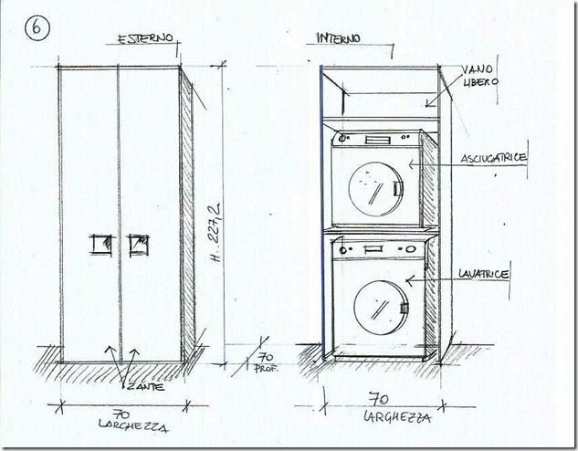 Areamobili mobile porta lavatrice e asciugatrice anche su misura - Mobile per lavatrice e asciugatrice ...
